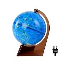 Глобус Звездного неба диаметр 210 мм на треугольной подставке с подсветкой
