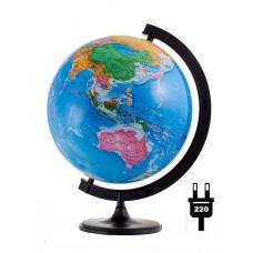 Глобус политический диаметр 320 мм с подсветкой