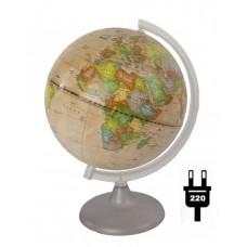 Глобус политический диаметр 250 мм Ретро-Александр с подсветкой